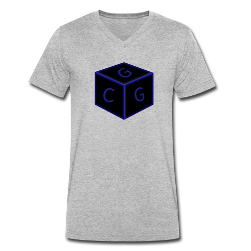 CGG Logo Cube - Men's Organic V-Neck T-Shirt by Stanley & Stella