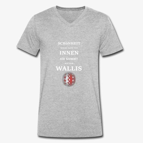 WALLIS - Männer Bio-T-Shirt mit V-Ausschnitt von Stanley & Stella