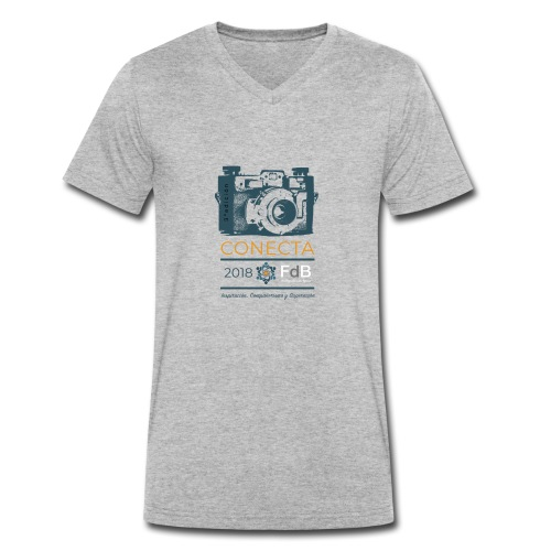 camiseta CONECTA color - Camiseta ecológica hombre con cuello de pico de Stanley & Stella