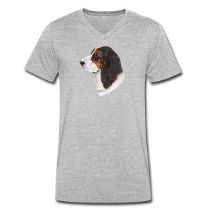 bassethound color - Økologisk Stanley & Stella T-shirt med V-udskæring til herrer