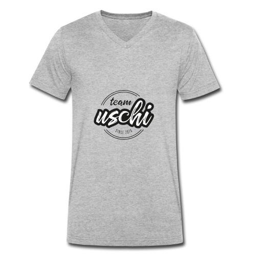 Team Uschi Schwarz original - Männer Bio-T-Shirt mit V-Ausschnitt von Stanley & Stella