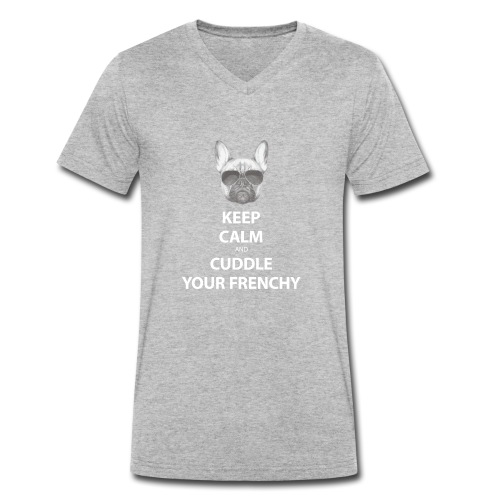 Keep Calm and Cuddle your Frenchy - Männer Bio-T-Shirt mit V-Ausschnitt von Stanley & Stella