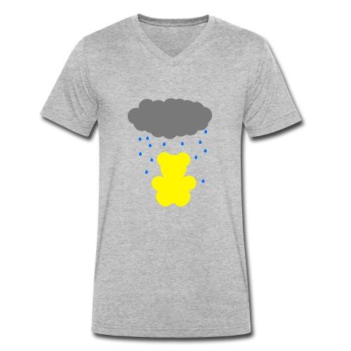 Carl im Regen | Teddy Geschenk Geschenkidee - Männer Bio-T-Shirt mit V-Ausschnitt von Stanley & Stella