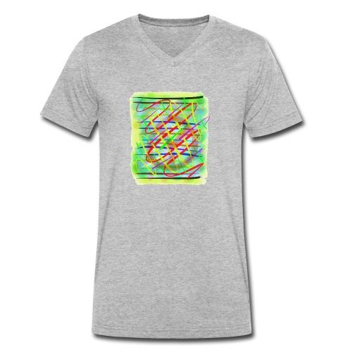 Farbregen - Männer Bio-T-Shirt mit V-Ausschnitt von Stanley & Stella