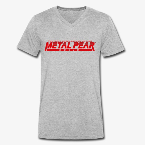 Metal Pear Solid: Tactical Greengrocer Action - Men's Organic V-Neck T-Shirt by Stanley & Stella