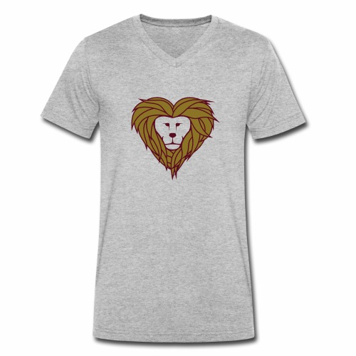 Lior heart - Mannen bio T-shirt met V-hals van Stanley & Stella