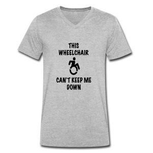 Cantkeepme - Mannen bio T-shirt met V-hals van Stanley & Stella