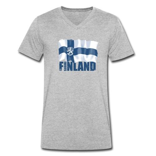 01-SUOMI LEIJONALIPPU - FINLAND LION FLAG - Stanley & Stellan naisten luomupikeepaita