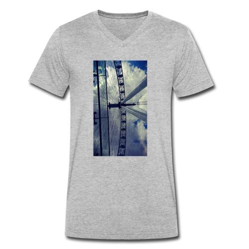 London eye Scratched - Camiseta ecológica hombre con cuello de pico de Stanley & Stella