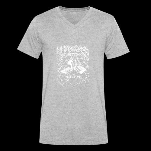 Punktronic Synthtunes - Männer Bio-T-Shirt mit V-Ausschnitt von Stanley & Stella