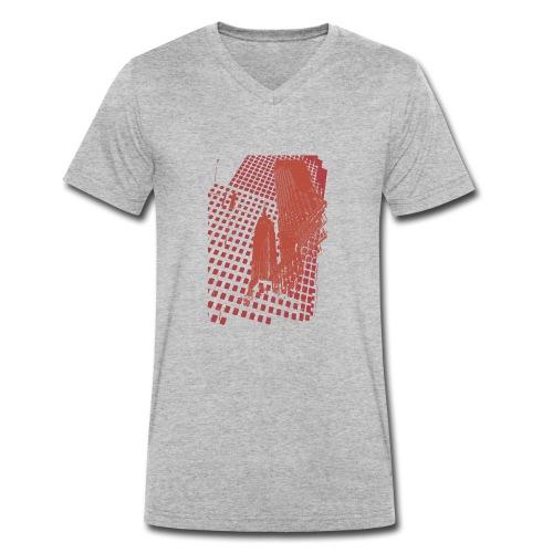 Digital Landscape - Camiseta ecológica hombre con cuello de pico de Stanley & Stella