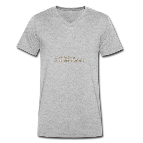 LLevoTuLuz - Camiseta ecológica hombre con cuello de pico de Stanley & Stella