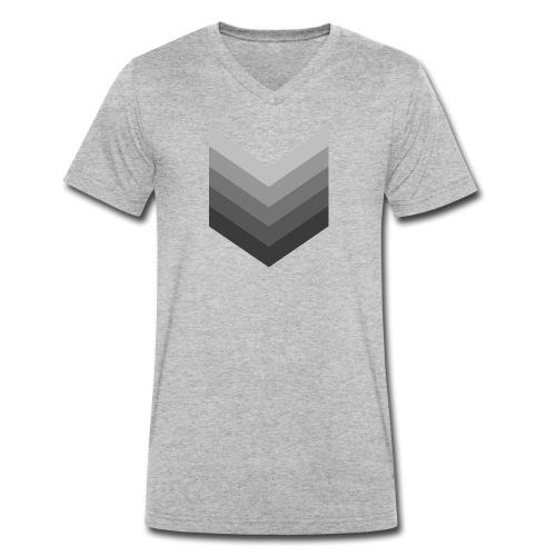 Chevrons gris - T-shirt bio col V Stanley & Stella Homme