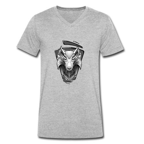 Wolf Tattoo Design - Männer Bio-T-Shirt mit V-Ausschnitt von Stanley & Stella