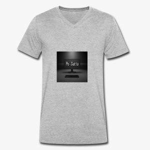 PC-Gutta - Økologisk T-skjorte med V-hals for menn fra Stanley & Stella