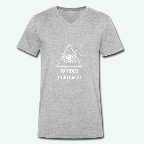 watch movies - T-shirt ecologica da uomo con scollo a V di Stanley & Stella