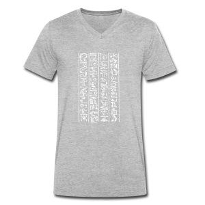 Hieroglyphen - Männer Bio-T-Shirt mit V-Ausschnitt von Stanley & Stella