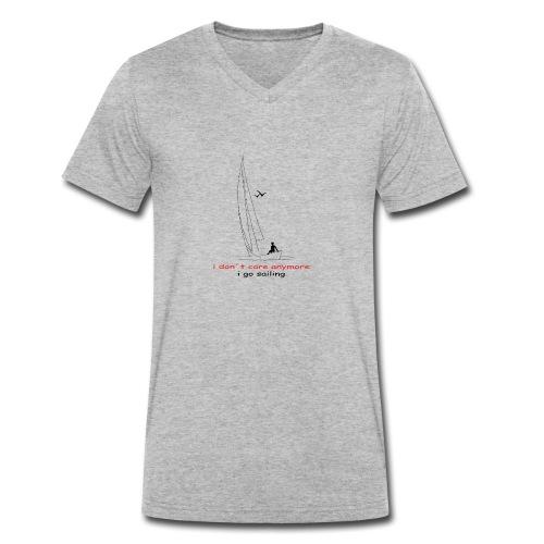 i don´t care anymore i go sailing - Männer Bio-T-Shirt mit V-Ausschnitt von Stanley & Stella