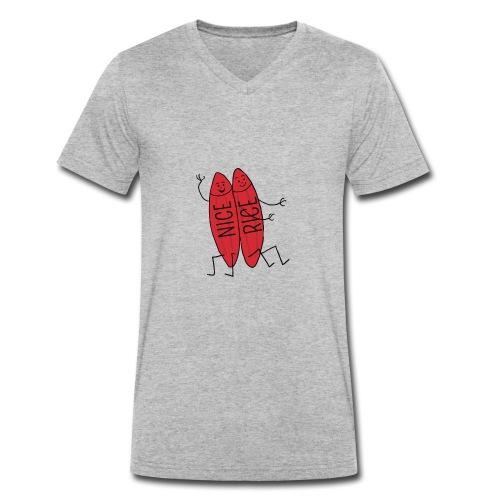 Neisserien > Nice-rice-Brueder - Männer Bio-T-Shirt mit V-Ausschnitt von Stanley & Stella