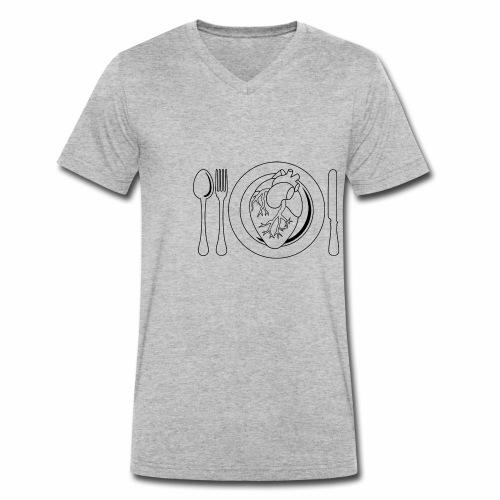 Es ist angerichtet. - Männer Bio-T-Shirt mit V-Ausschnitt von Stanley & Stella