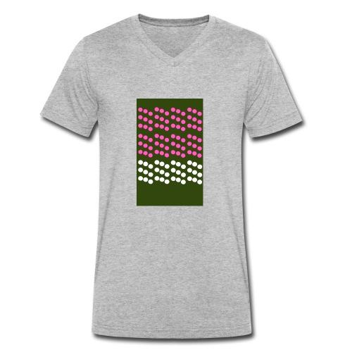 retrospotty - Men's Organic V-Neck T-Shirt by Stanley & Stella