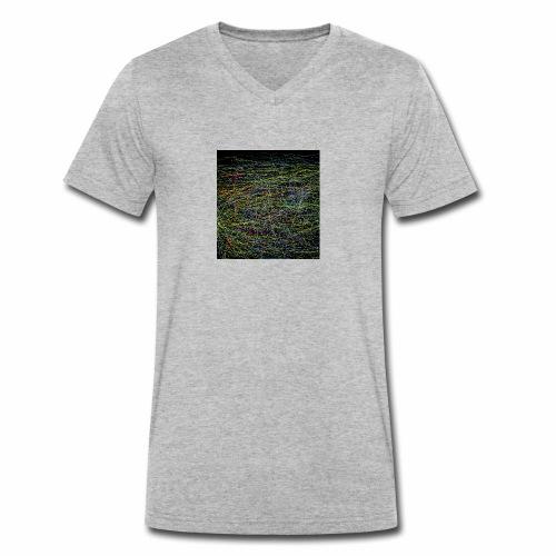 Ein Netzwerk aus farben - Männer Bio-T-Shirt mit V-Ausschnitt von Stanley & Stella