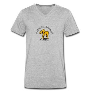 Babyelefant - Save The Elephants - Männer Bio-T-Shirt mit V-Ausschnitt von Stanley & Stella
