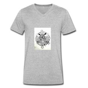 guerriere celtique entrelacs bretagne femme - T-shirt bio col V Stanley & Stella Homme