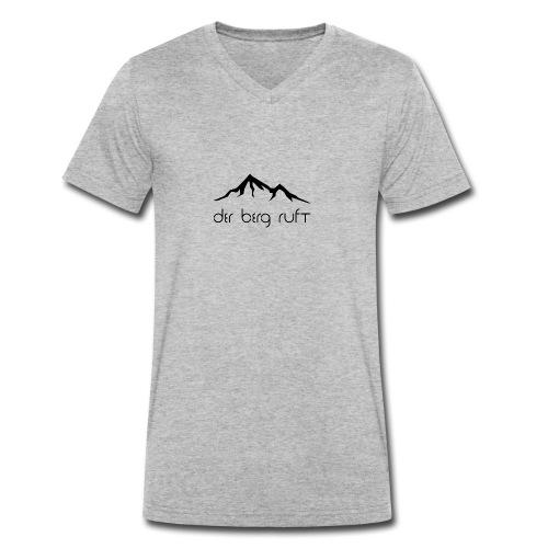 Der Berg ruft schwarz - Männer Bio-T-Shirt mit V-Ausschnitt von Stanley & Stella