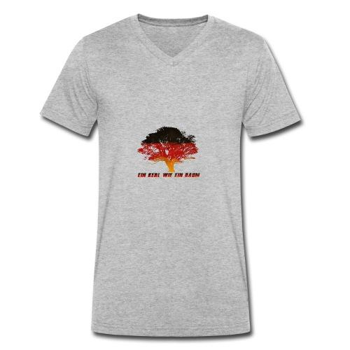 Ein Kerl wie ein Baum - Männer Bio-T-Shirt mit V-Ausschnitt von Stanley & Stella