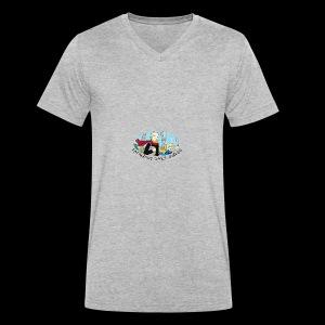 Fatherhood Badly Doodled - Men's Organic V-Neck T-Shirt by Stanley & Stella