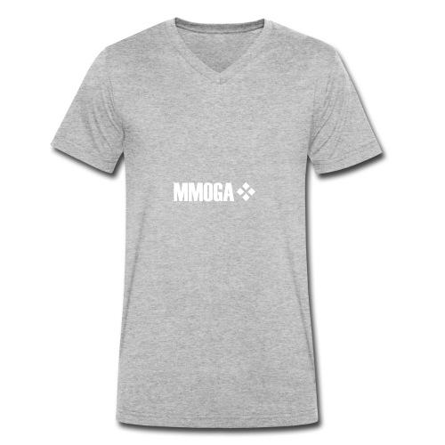 mmoga-logo-white-8817x2008-vector - Männer Bio-T-Shirt mit V-Ausschnitt von Stanley & Stella