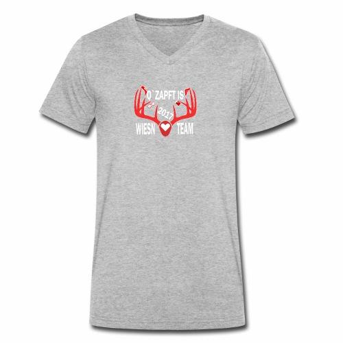 Wiesen Team Das Oktoberfestshirt - Männer Bio-T-Shirt mit V-Ausschnitt von Stanley & Stella