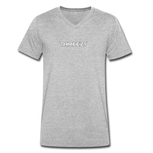 Threezy Logo - Männer Bio-T-Shirt mit V-Ausschnitt von Stanley & Stella