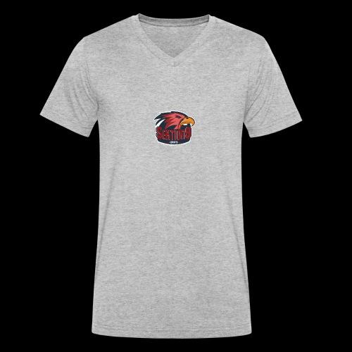 Sektion9 logo Rot - Männer Bio-T-Shirt mit V-Ausschnitt von Stanley & Stella