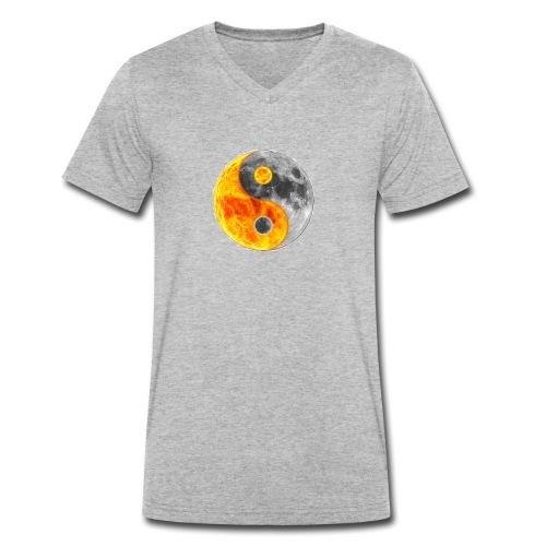 Ying et yang - T-shirt bio col V Stanley & Stella Homme