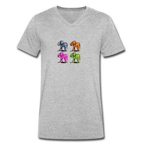 Elefantenkinder - Männer Bio-T-Shirt mit V-Ausschnitt von Stanley & Stella