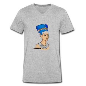 Nefertiti - Nofretete - Männer Bio-T-Shirt mit V-Ausschnitt von Stanley & Stella