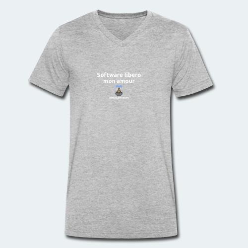 Software libero mon amour - T-shirt ecologica da uomo con scollo a V di Stanley & Stella