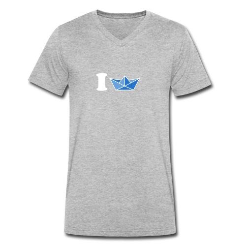 I [Schiff] blau - Männer Bio-T-Shirt mit V-Ausschnitt von Stanley & Stella