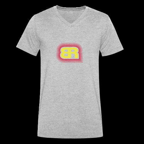 Logo Rot/Gelb - Männer Bio-T-Shirt mit V-Ausschnitt von Stanley & Stella