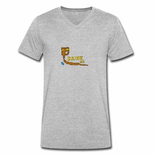 Chocolate Bleach Drink Me - Men's Organic V-Neck T-Shirt by Stanley & Stella