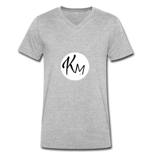 KM Logo - Männer Bio-T-Shirt mit V-Ausschnitt von Stanley & Stella