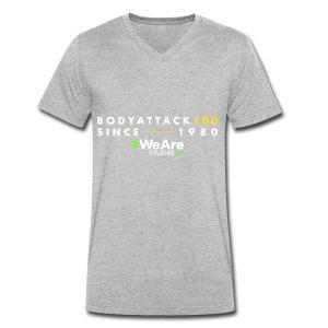 BodyAttack 100 StudioFit Launch Wear - Men's Organic V-Neck T-Shirt by Stanley & Stella