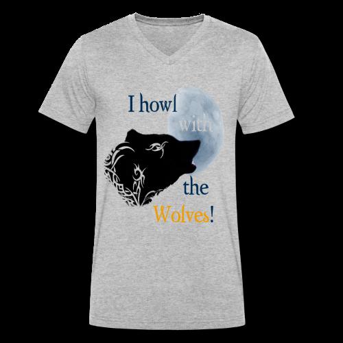 Wolf howl - Männer Bio-T-Shirt mit V-Ausschnitt von Stanley & Stella