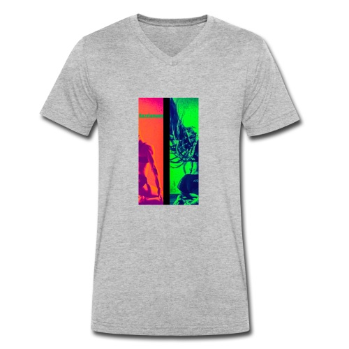 Pop-Art Double Flash Color twist New Neon - Männer Bio-T-Shirt mit V-Ausschnitt von Stanley & Stella