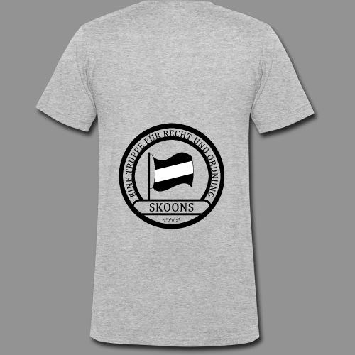 Eine Truppe für Recht und Ordnung - SKOONS - Männer Bio-T-Shirt mit V-Ausschnitt von Stanley & Stella