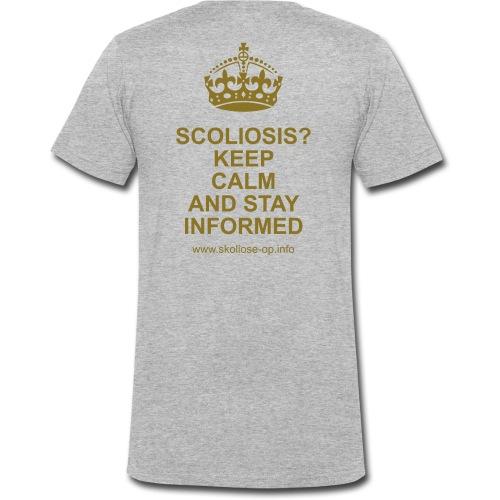 SKOLIOSE - KEEP CALM - Männer Bio-T-Shirt mit V-Ausschnitt von Stanley & Stella