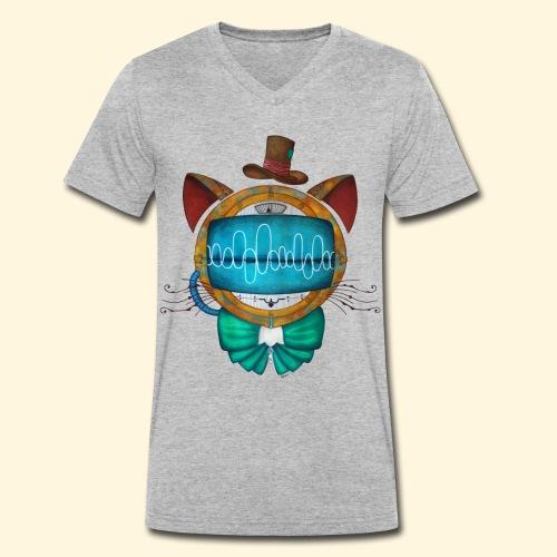 Shoupignon - Chat robot Steampunk - T-shirt bio col V Stanley & Stella Homme