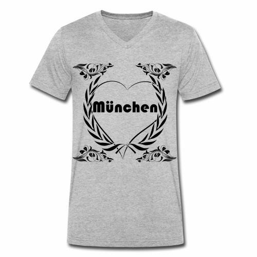 Ich liebe München - Männer Bio-T-Shirt mit V-Ausschnitt von Stanley & Stella